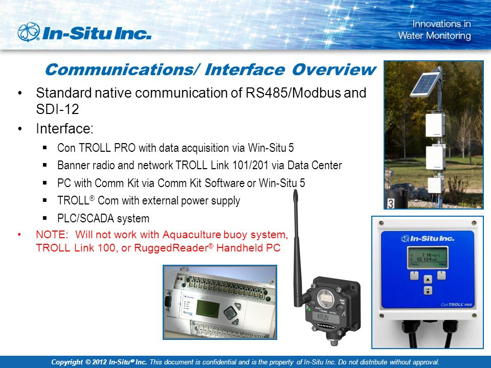 Dased Pc Data Acquisition System : In situ water quality sensors ppt video online download