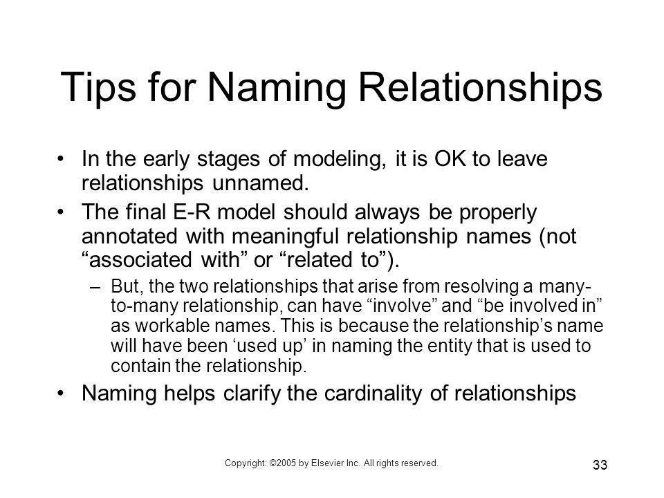 Tips for Naming Relationships