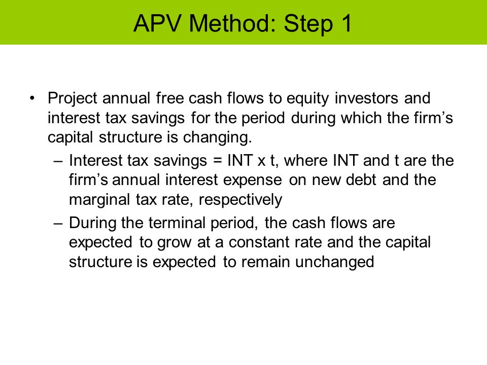 APV Method: Step 1