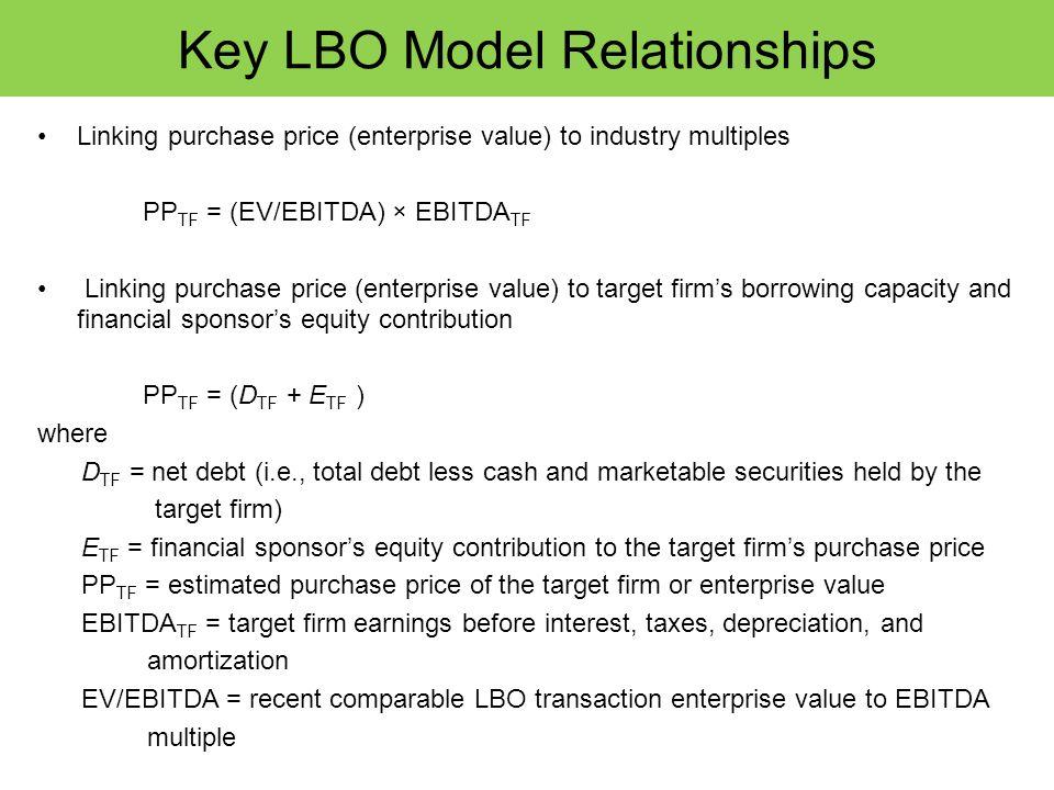 Key LBO Model Relationships