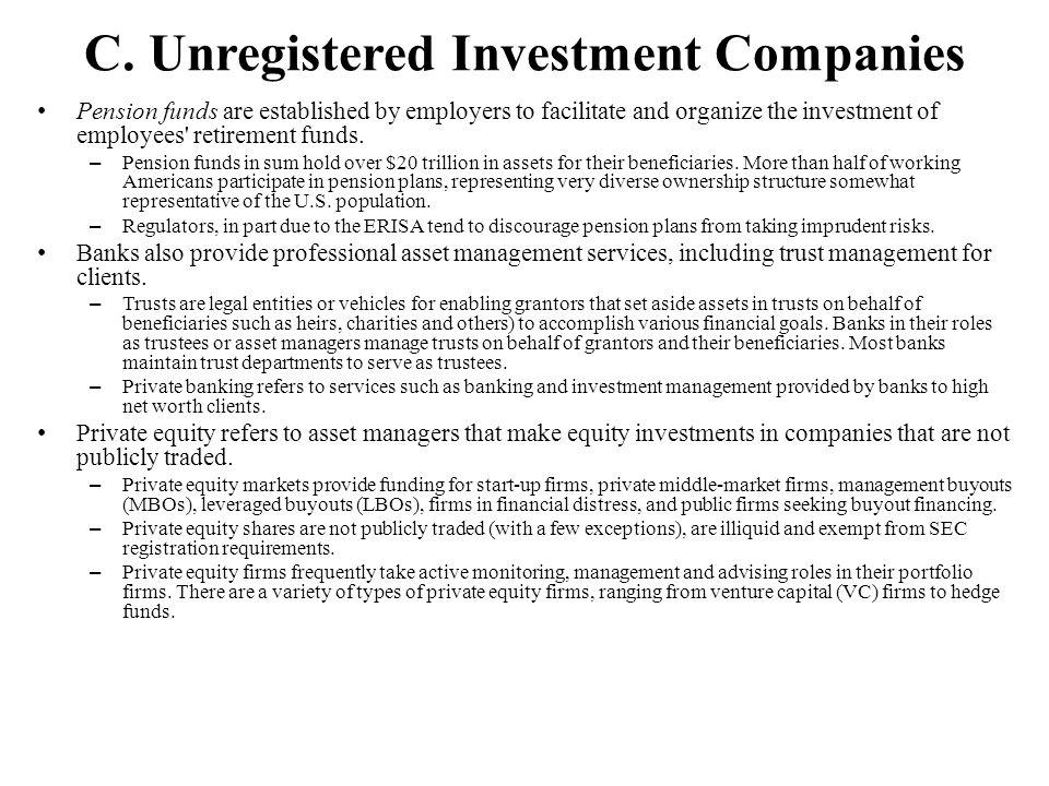 C. Unregistered Investment Companies
