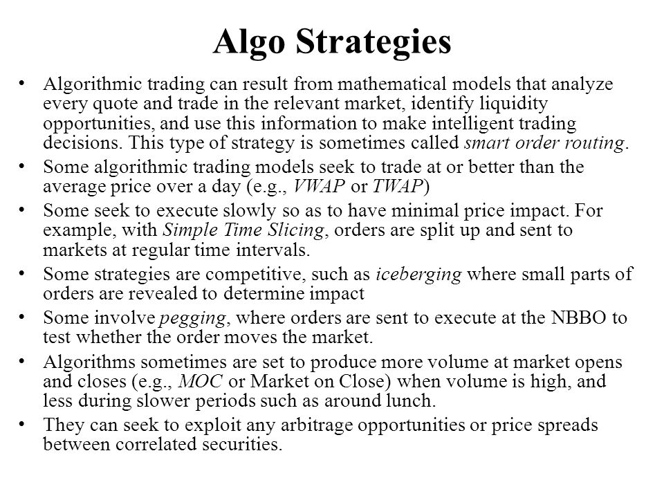 Algo Strategies
