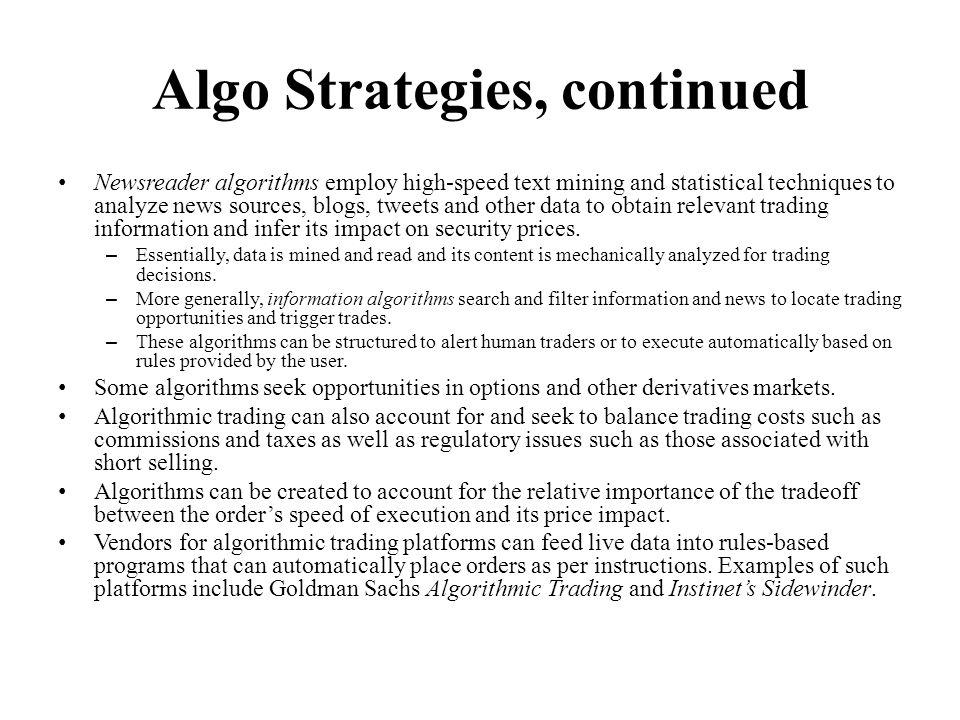 Algo Strategies, continued