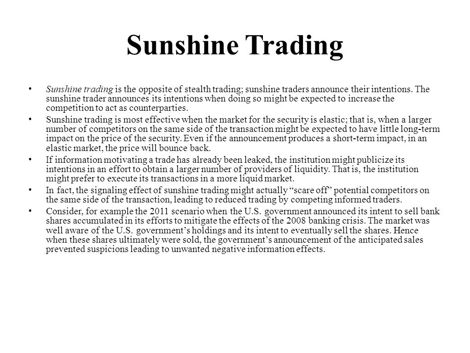 Sunshine Trading