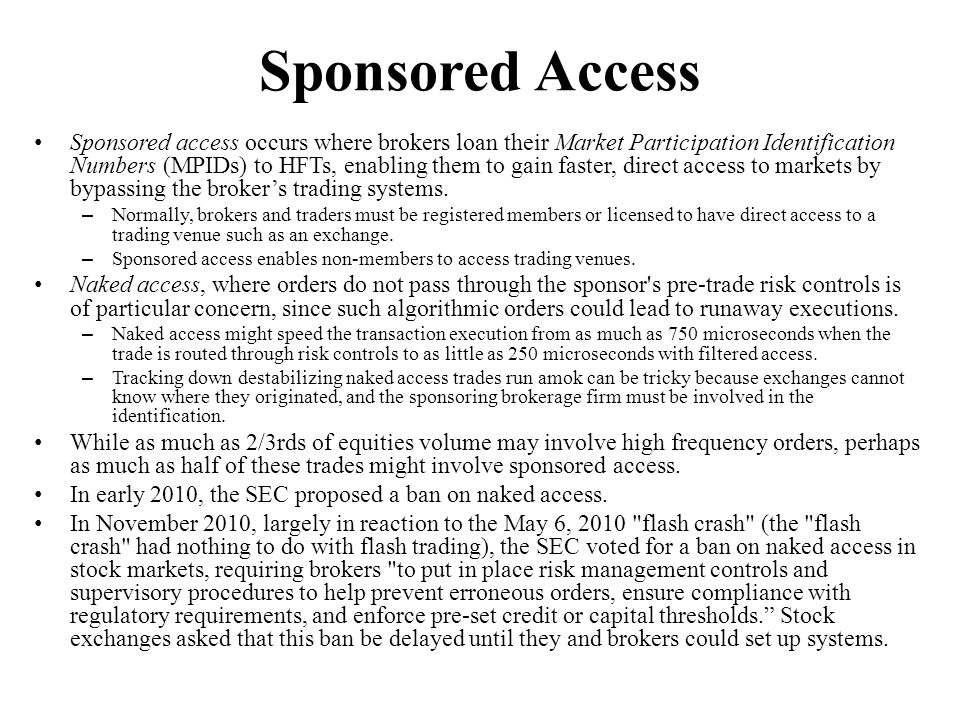 Sponsored Access