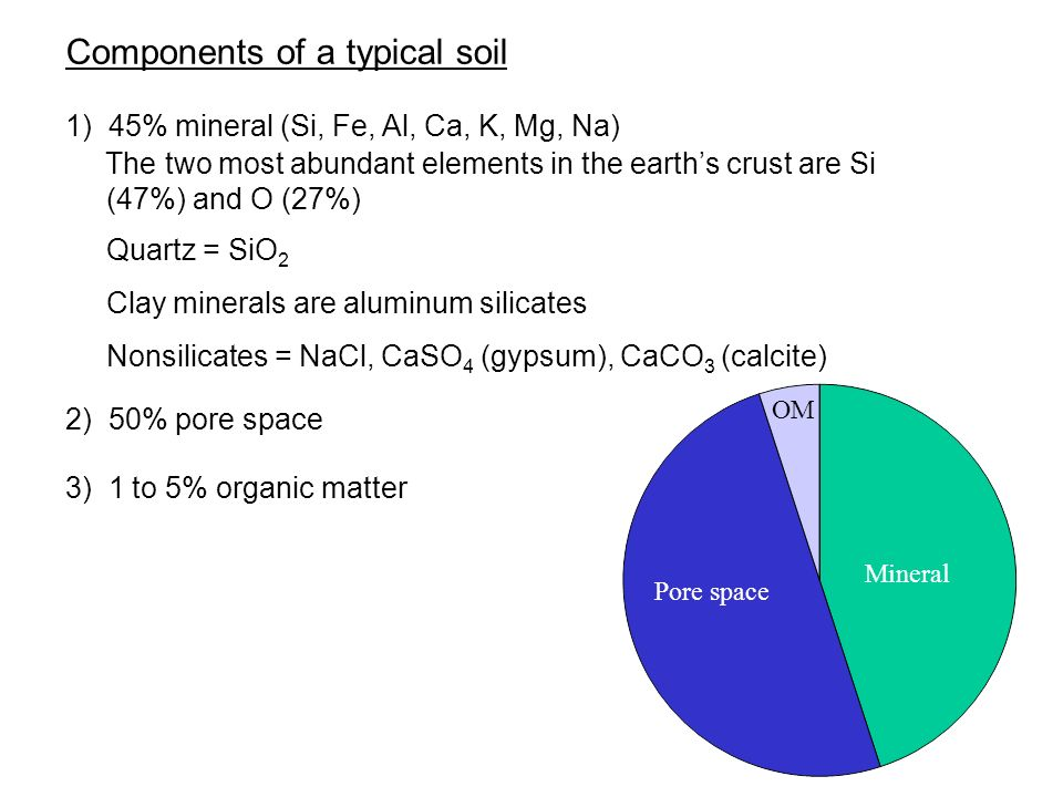 Components of a typical soil