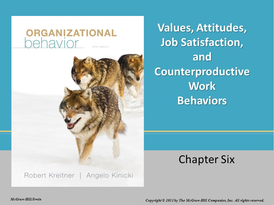 organizational behavior chapter 3 attitudes and job satisfaction ppt Bob stretch southwestern college robbins & judge organizational behavior 13th edition chapter 3: attitudes and job satisfaction ppt last modified by.