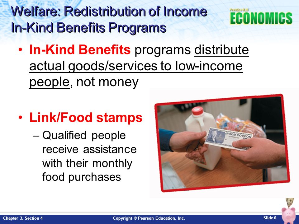 Welfare: Redistribution of Income In-Kind Benefits Programs