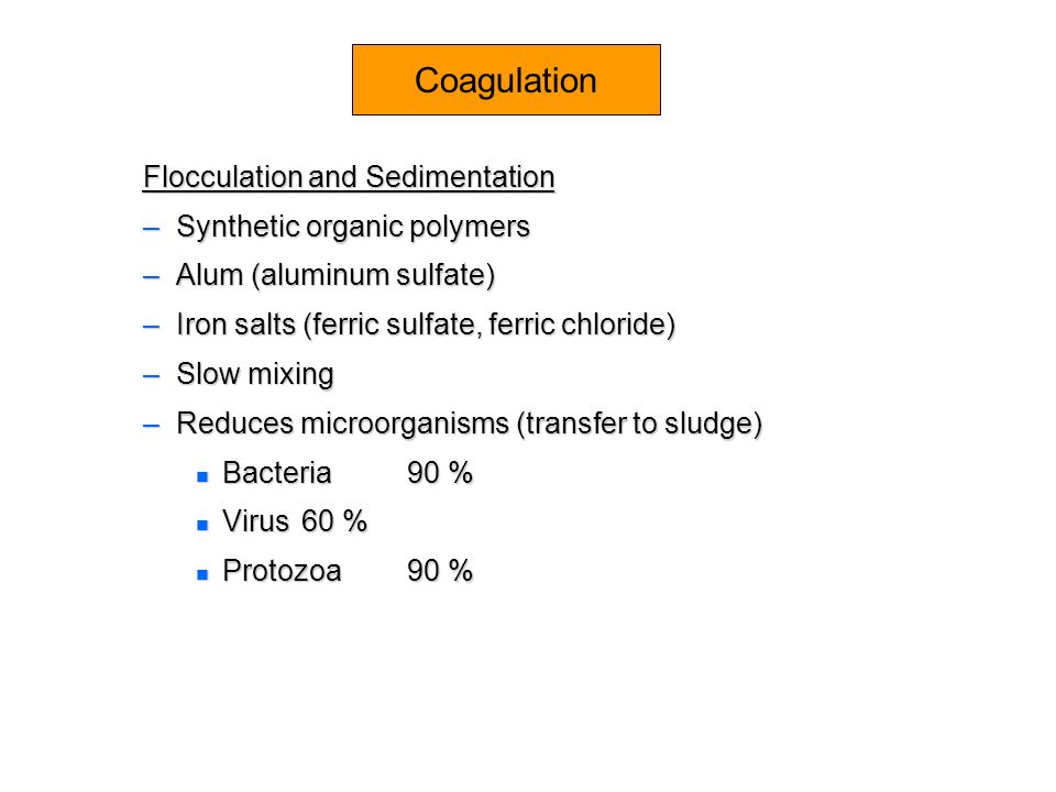 Coagulation Flocculation and Sedimentation Synthetic organic polymers