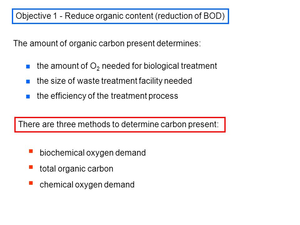 The amount of organic carbon present determines: