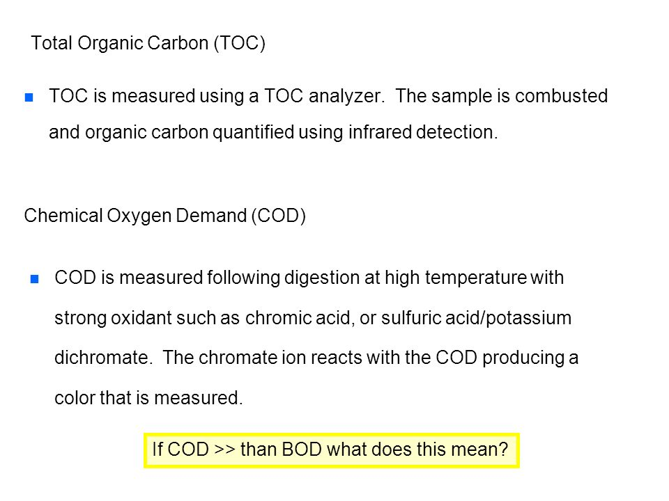 Total Organic Carbon (TOC)