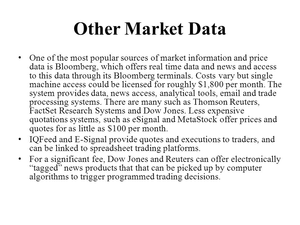 Other Market Data