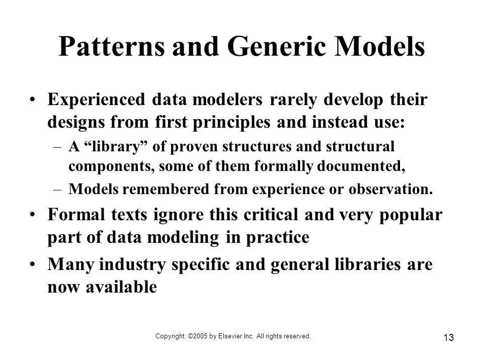 Patterns and Generic Models