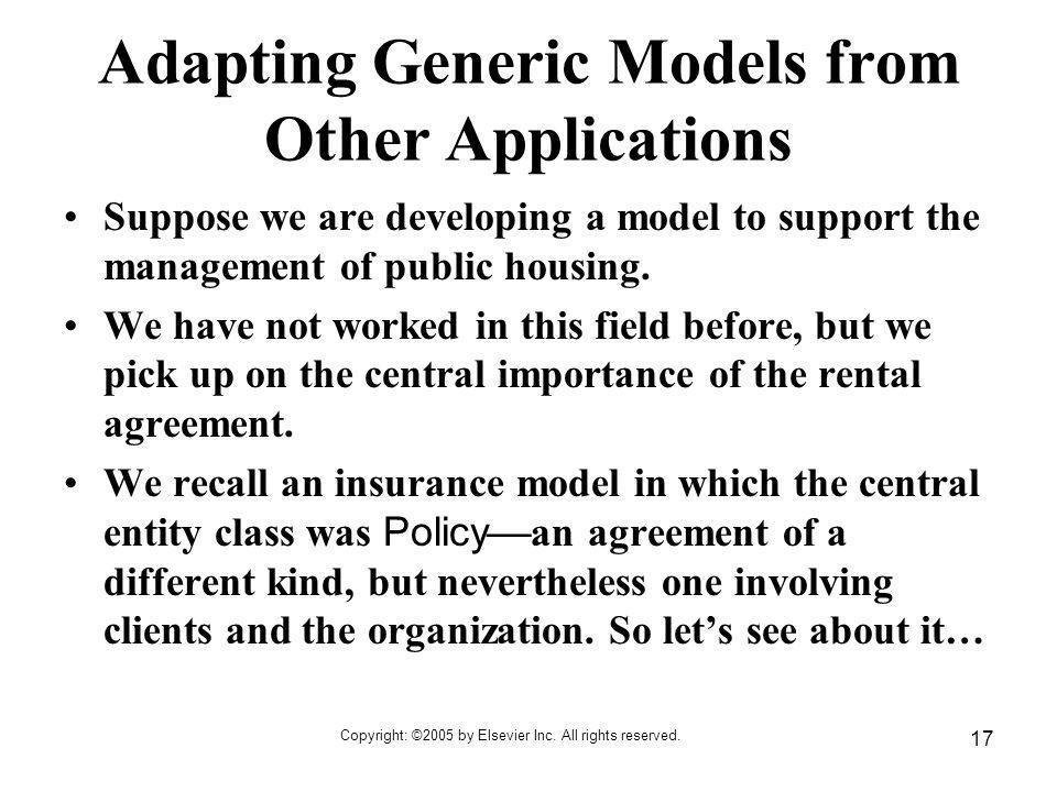 Adapting Generic Models from Other Applications