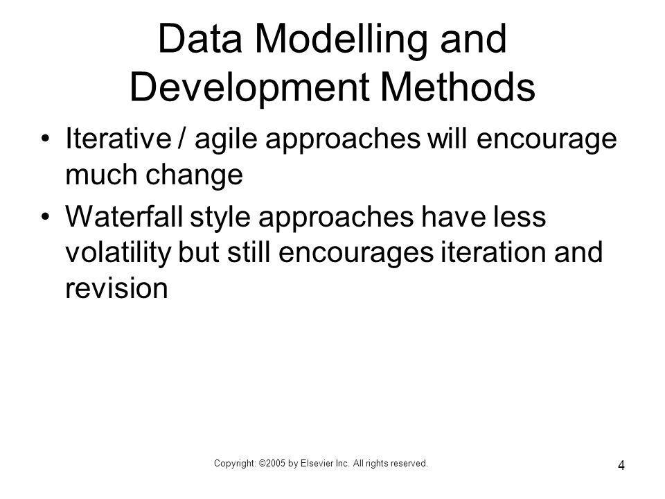 Data Modelling and Development Methods
