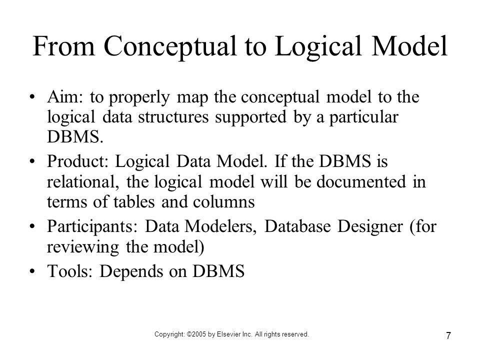From Conceptual to Logical Model