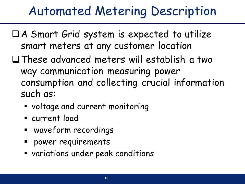 Automated Metering Description