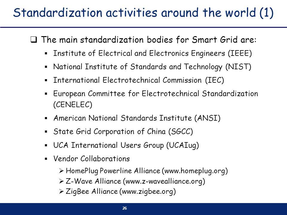 Standardization activities around the world (1)