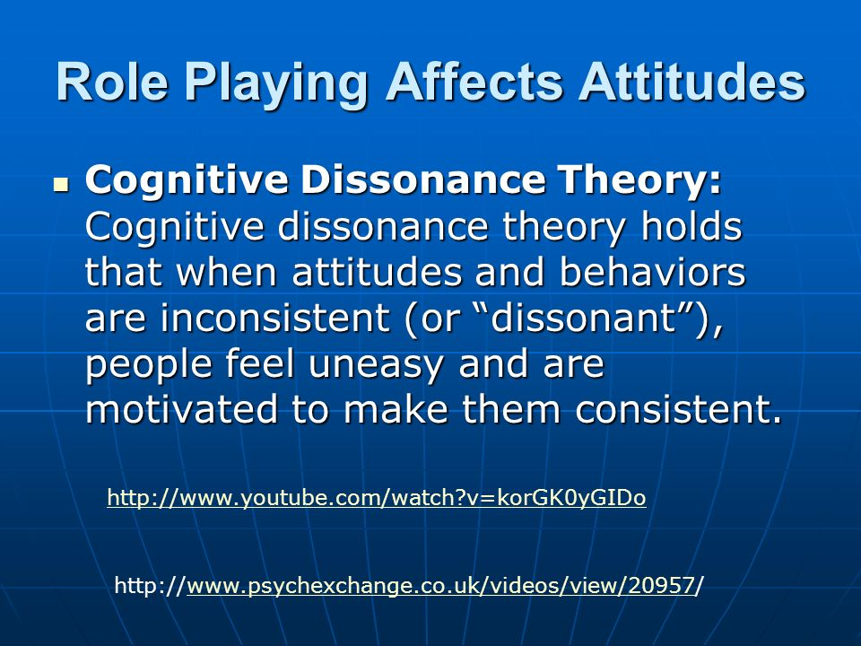a study on cognitive dissonance