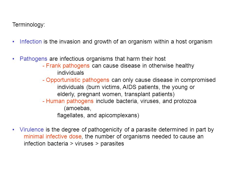 Pathogens are infectious organisms that harm their host