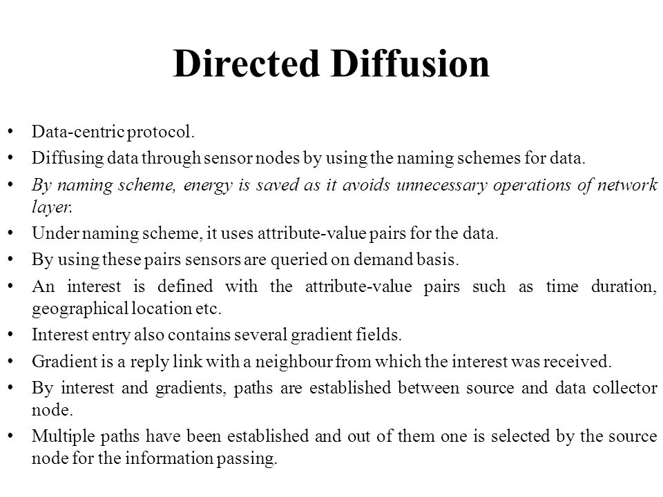 Directed Diffusion Data-centric protocol.