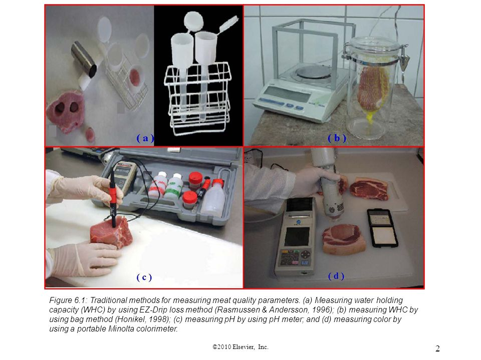 Figure 6. 1: Traditional methods for measuring meat quality parameters