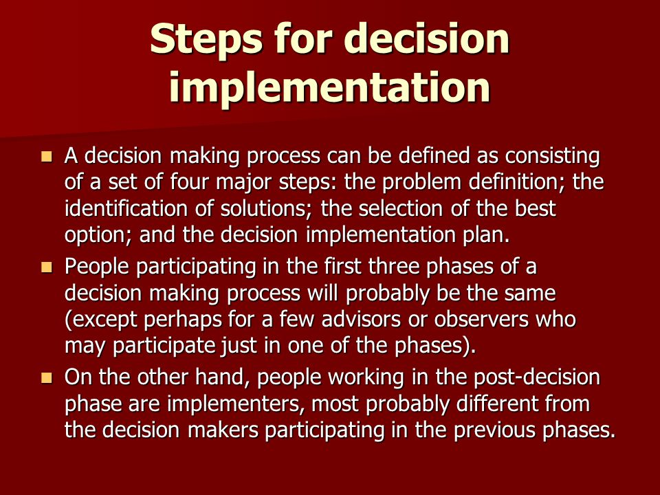 information systems and decision making process essay Decision-making by buying information  systems and decision making:  as a measuring tool and decision process in decision analysis.