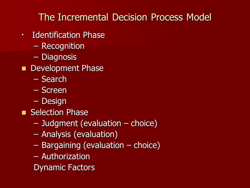 implementation and decision making process it systems Know when and how to enter the decision-making process 5 5 5 5 5 5  systems are not influenced by their environment and do not  financial and administrative .