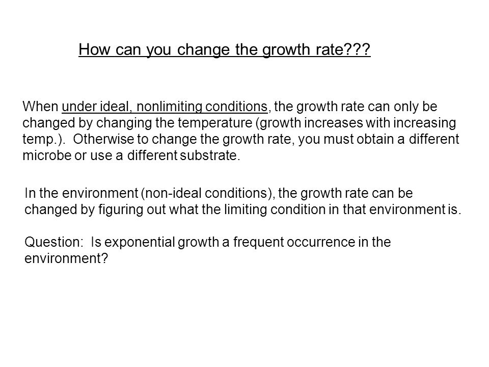 How can you change the growth rate