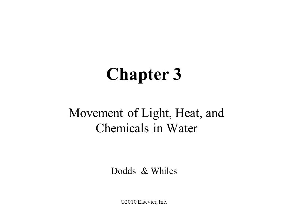 Movement of Light, Heat, and Chemicals in Water