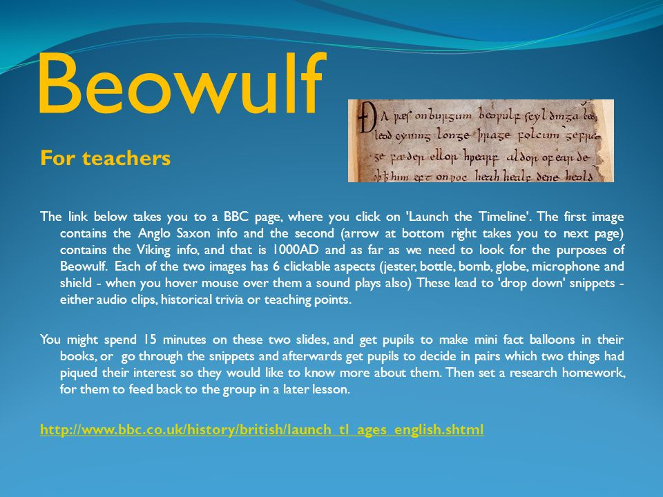 beowulf essay outline Enjoy this list of possible beowulf thesis statements for your literature essay and be sure to find one right for you.