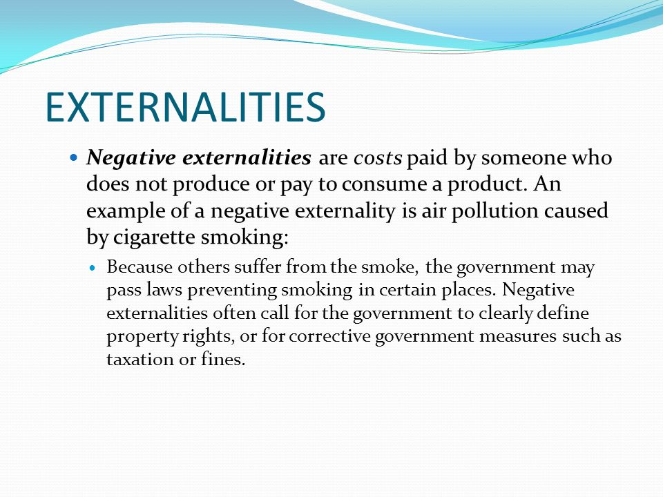 the externalities of smoking 1st of february i have been officially one month without smoking well, ok ok, this sentence is not 100% true if we take into consideration the various.