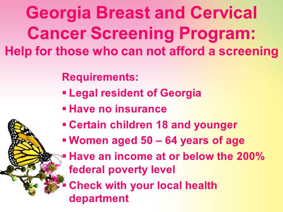 Federal cervical and breast cancer program