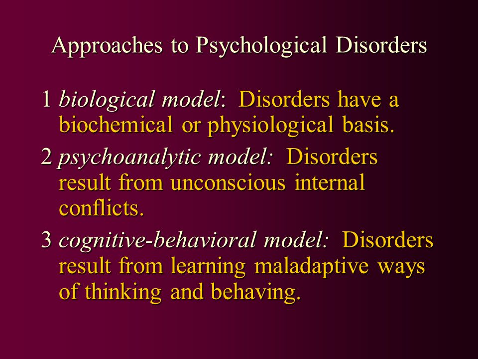 psychological approaches to learning Home // psychology topics // therapy // different approaches to  this approach focuses on learning's role in developing both normal and abnormal behaviors .