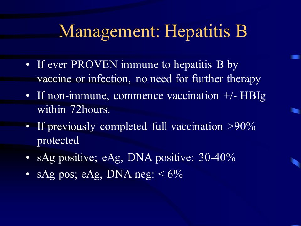 Management: Hepatitis B
