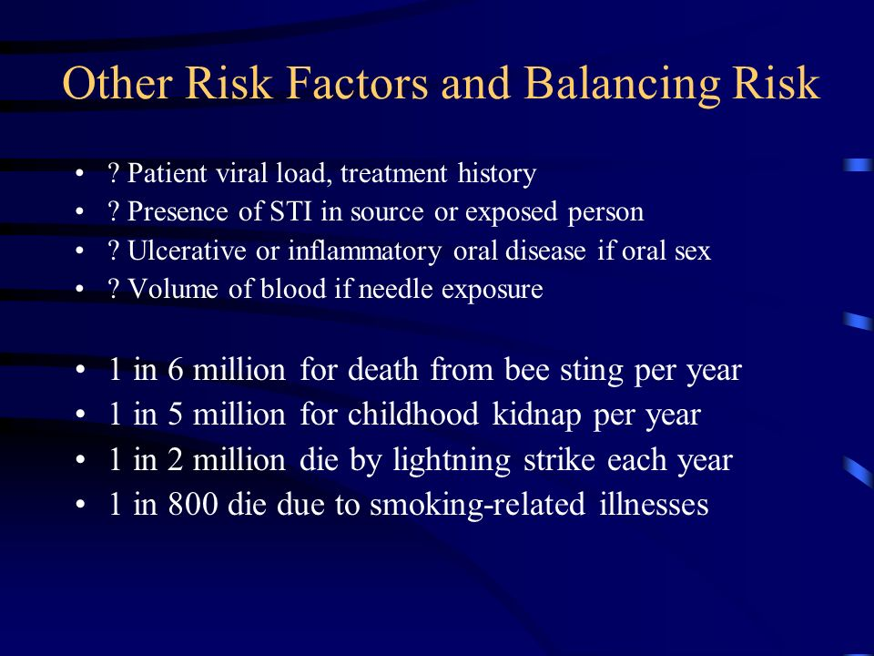 Other Risk Factors and Balancing Risk