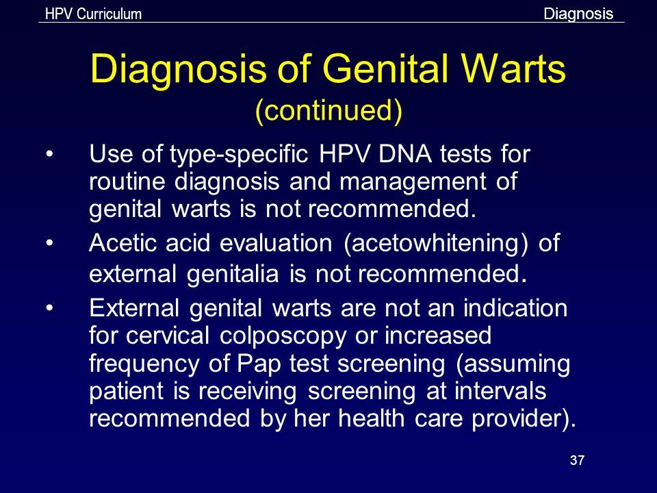 Diagnosis health warts