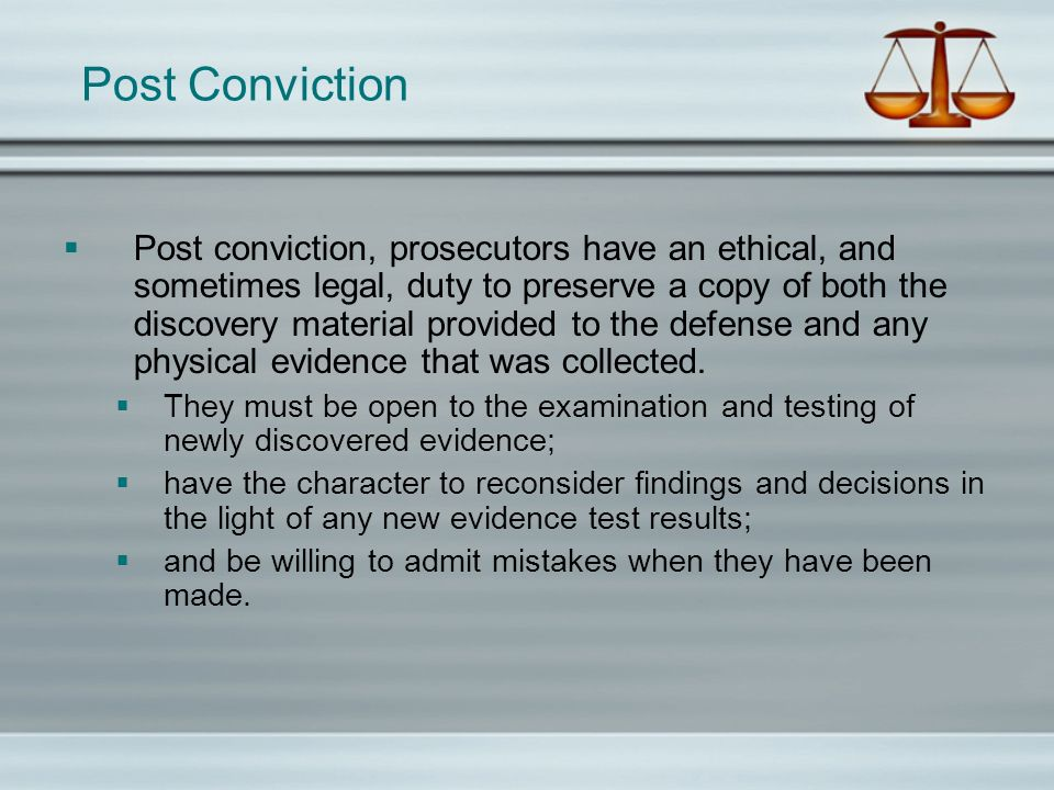 Post Conviction