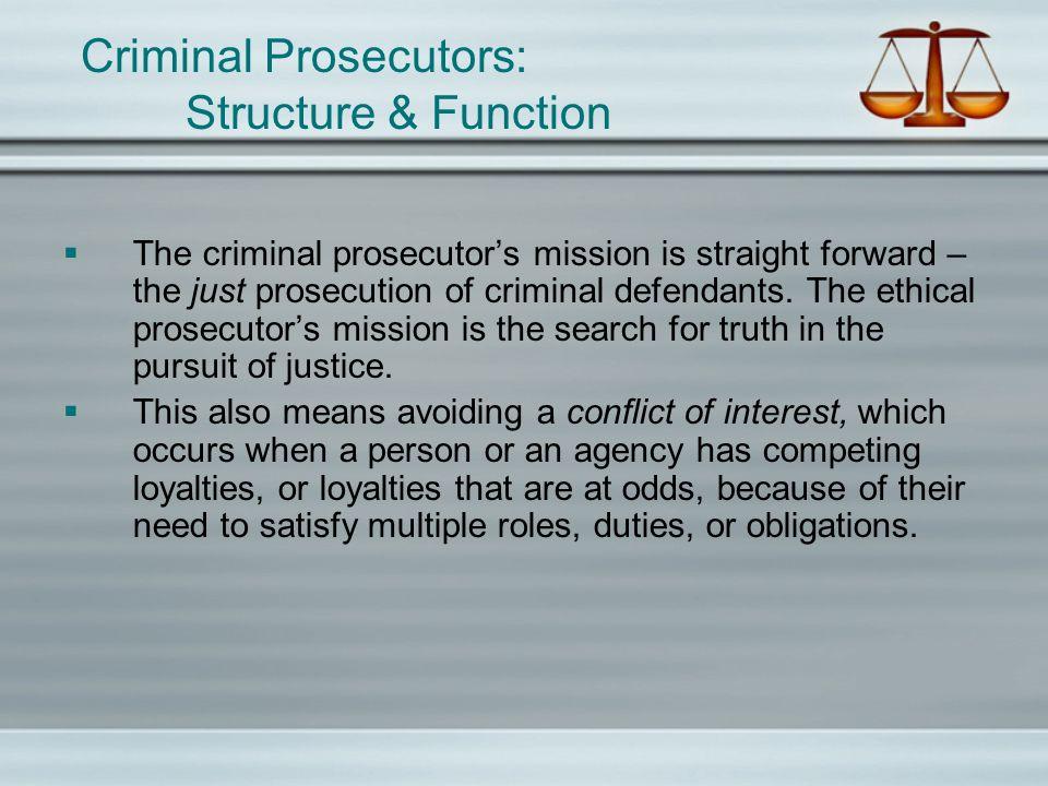 Criminal Prosecutors: Structure & Function