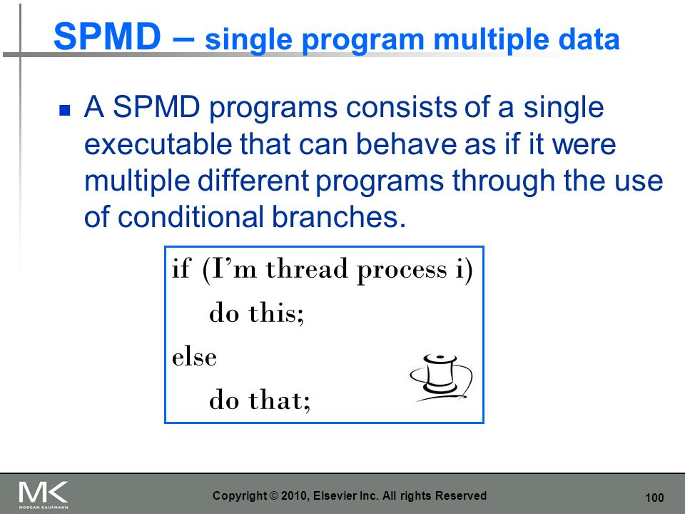 SPMD – single program multiple data