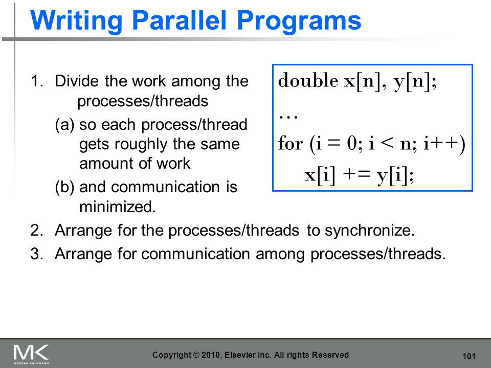 Writing Parallel Programs