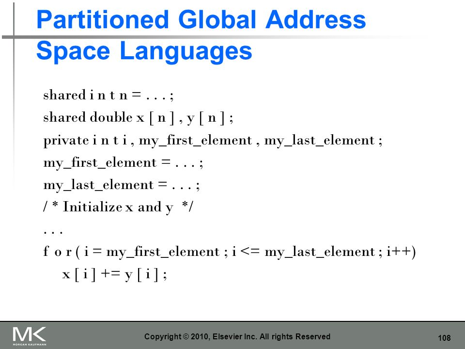Partitioned Global Address Space Languages