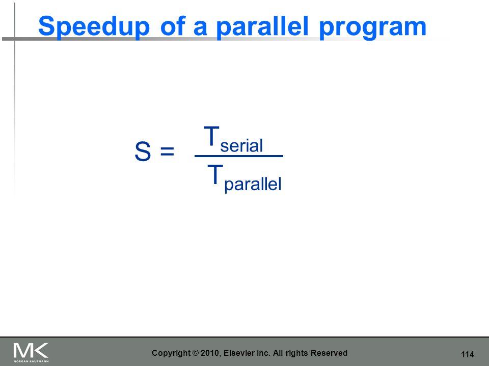 Speedup of a parallel program