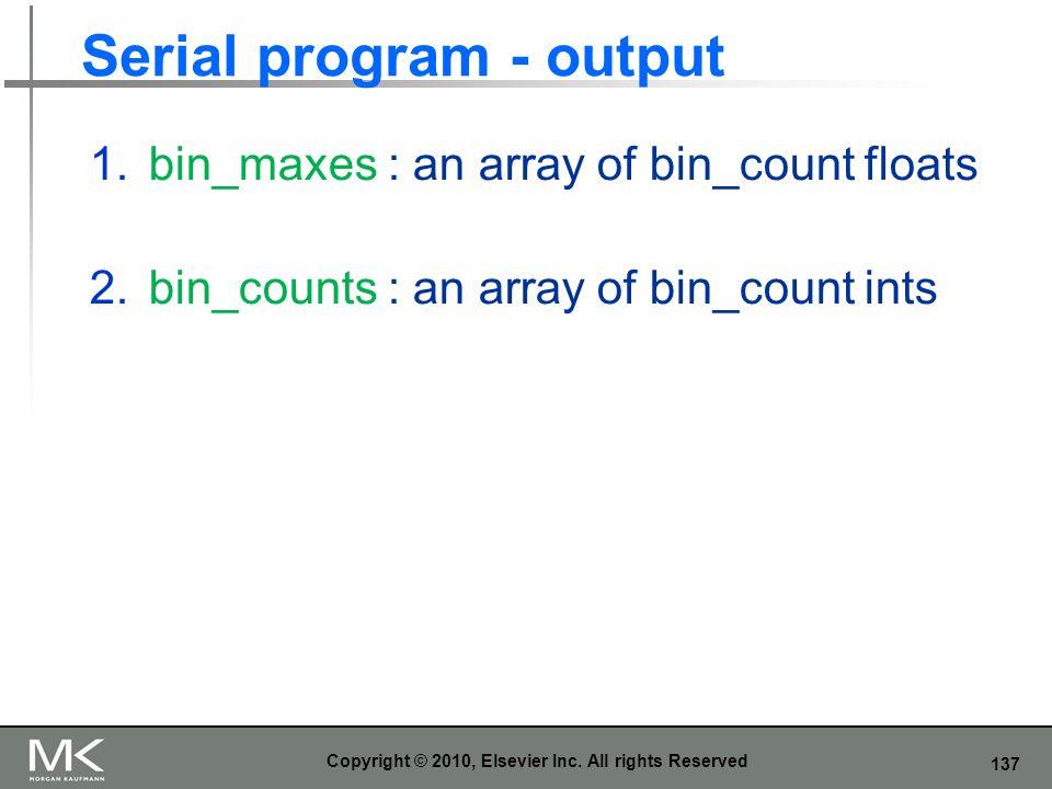 Serial program - output