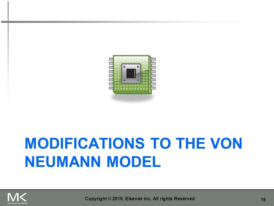 Modifications to the von neumann model