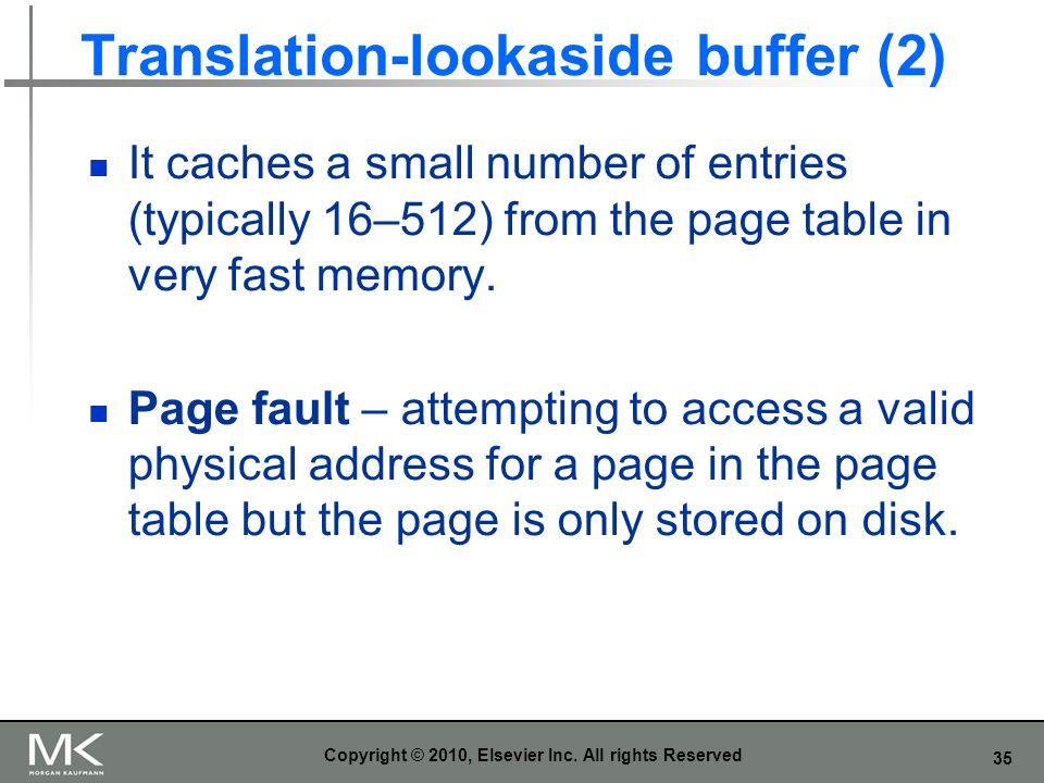 Translation-lookaside buffer (2)