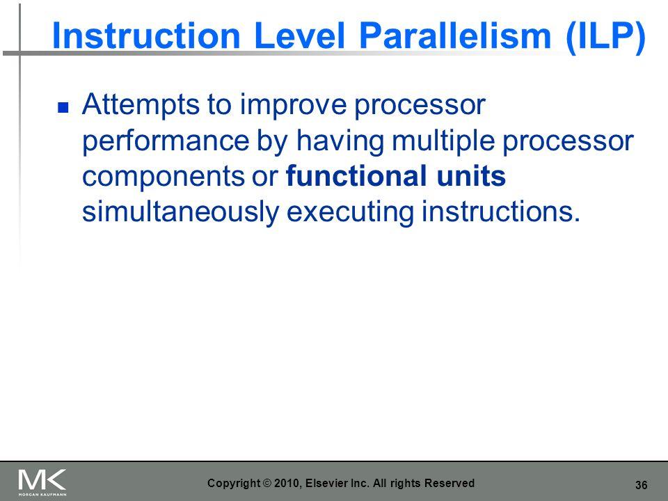 Instruction Level Parallelism (ILP)