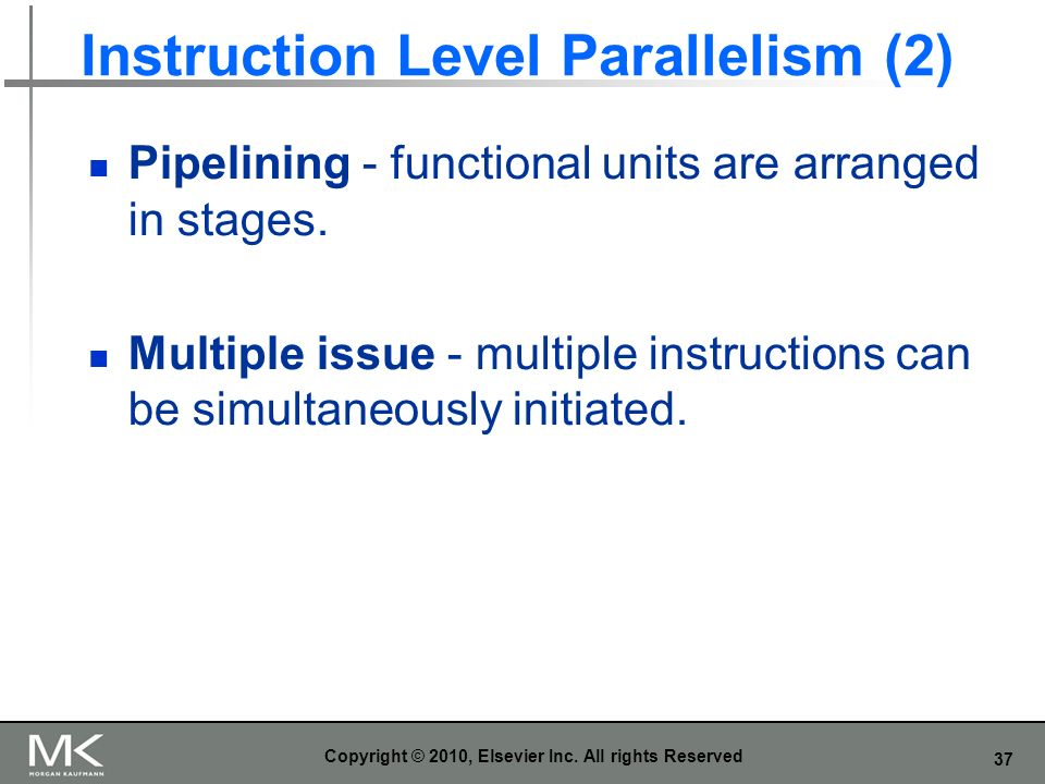 Instruction Level Parallelism (2)