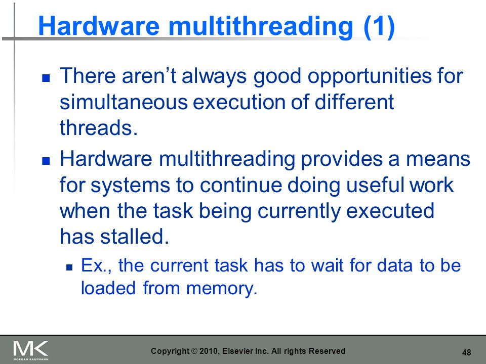 Hardware multithreading (1)
