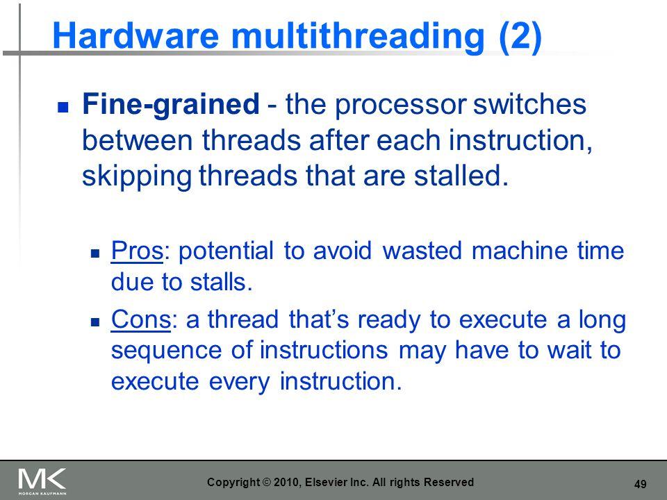 Hardware multithreading (2)